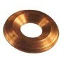 Conical fire plates and heat shields of copper or stainless steel / aluminum