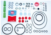 Overhaul kits with gaskets and products to repair your Bosch Delphi Minimec Simms Caterpillar Stanadyne Zexel Yanmar Cummins or Denso fuelpump.