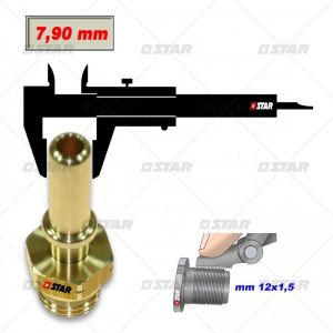 Brass Quick Connector Male 1/2 20UNF dia 9.90